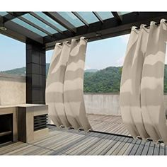 Outdoor Curtains For Patio, Gazebo Curtains, Outdoor Privacy, Outdoor Rooms, Porch Gazebo, Backyard Gazebo, Pergola Garden, Thermal Curtains, Grommet Curtains
