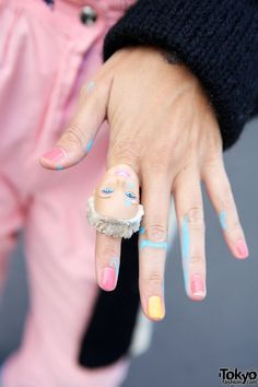 Barbie head ring in Harajuku with MC Gaffy Gaffiero