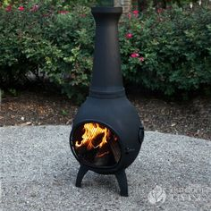 The Blue Rooster Company Prairie Chiminea    thebluerooster.com  $429.95