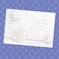 Shimmering Doves - Invitation