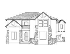 Canyon Rim - 2 Story Mountain Rustic style house plan - Walker ...