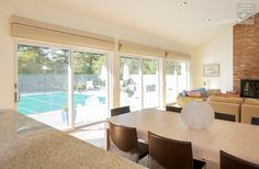 We installed new sliding glass patio doors in this amazing dining room / living room combination  . . . . . . .  Home Remodeling / Home Improvement / Renovations / Sliding Glass Patio Doors from Renewal by Andersen Long Island