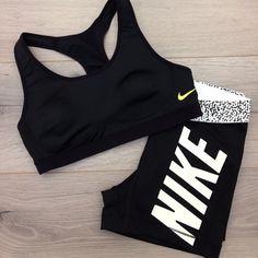 Women's Nike Fitness Apparel - StyleHerPretty with Nike Fitness Pants! http://www.FitnessApparelExpress.com
