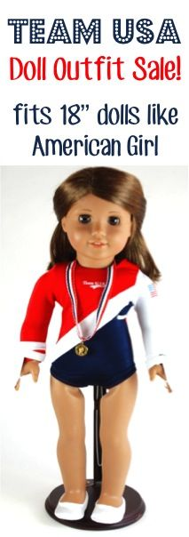 "Team USA Gymnastics Doll Outfit: $8.25!  {fits 18"" dolls like American Girl}"