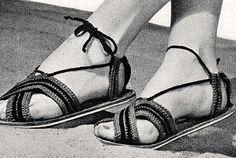 Crochet Slipper Pattern, Crochet Slippers, Crochet Patterns, Off Black, Beach Sandals, Historical Clothing, Vintage Crochet, Clarks, Crochet Hooks