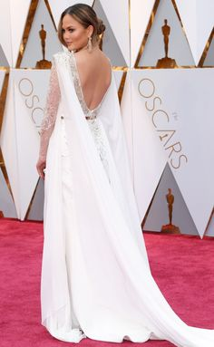 Chrissy Teigen in Zuhair Murad - click through for more better-from-the-back Oscars dresses