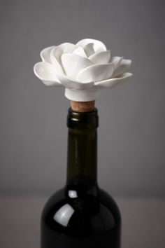 This is another thoughtful but inexpensive gift idea that most people typically don't buy for themselves. I love these wine stoppers from BHLDN. If you're willing to spend a bit more, tie it onto a great bottle of wine. Cute Gifts, Diy Gifts, Gadgets, In Vino Veritas, Bottles And Jars, Bottle Stoppers, Last Minute Gifts, Holiday Gifts, Hostess Gifts
