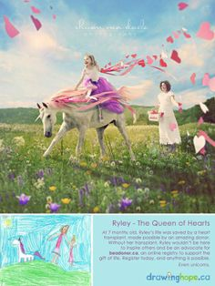 The Drawing Hope Project by Shawn Van Daele turns sick kids drawings into fairy tale photos - Ryley, The Queen of Hearts  - 6