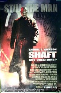 Shaft     Original Movie Poster - 2000 - double-sided      for sale - check web site