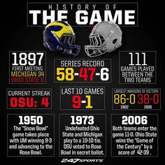 The Football Chick — College Football Rivalry Week Michigan vs Ohio. Florida Vs Florida State, Ohio State Vs Michigan, Michigan Wolverines Football, Buckeyes Football, Nebraska Cornhuskers, Ohio State Buckeyes, Oklahoma Sooners, Alabama College Football, American Football