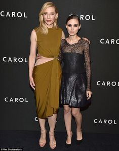 Leading ladies: Cate Blanchett (L) and Rooney Mara looked stunning at the Carol premiere in New York City on Monday
