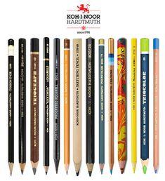 Koh-I-Noor-Pencil-Product-Range Pastel Pencils, Watercolor Pencils, Colored Pencils, 2 Pencil, Pencil Drawings, Derwent Pencils, Wooden Pencils, Koh I Noor