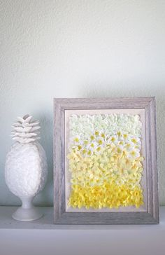 Ombre DIY Floral Wall Art Tutorial on #MichaelsMakers Shrimp Salad Circus
