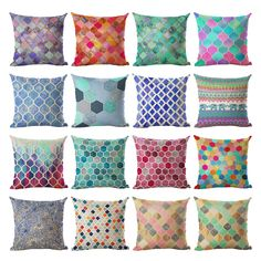 Aliexpress.com : Buy Homing Colorful Mandala Geometric Cushion Cover 45x45CM (18x18IN) Hexagon Plaid Pillow Cover Pillow Case Home Decor Seat Case from Reliable cushion cover suppliers on homing Official Store