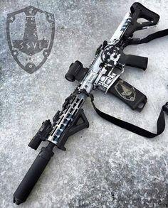 """tacticalsquad: """" Via White Out """" Airsoft Guns, Weapons Guns, Guns And Ammo, Armas Airsoft, Tactical Rifles, Firearms, Tactical Wall, Shotguns, Ar15"""
