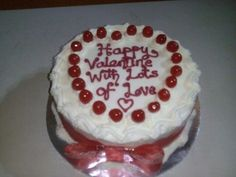 Cherry-on-top valentine cake