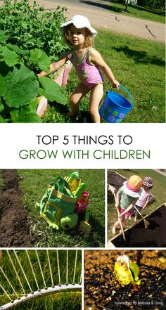 Get Picky Eaters to Try Healthy Options: START A GARDEN! *List of the top 5 things to grow with kids
