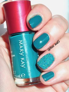 Lydia's Nails: Mary Kay Tempting Teal and a Caviar Nail