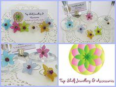 Handmade by Top Shelf Jewellery & Accessories Set of six Wine Glass Charms.