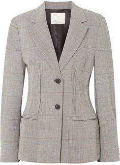 3.1 Phillip Lim Checked Wool-blend Blazer - Gray