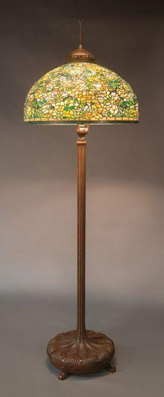 Tiffany studios yellow rose floor lamp
