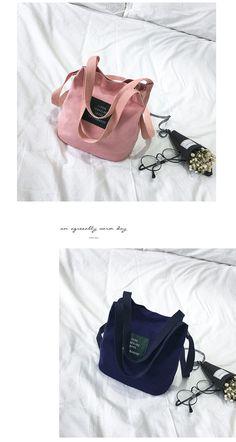 Korean Canvas Tote Bag - NotebookTherapy Korean Bags 46ff49e484bfa