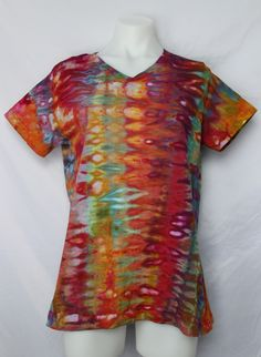 $36 - Ladies tie dye t shirt - size Large - Confetti snakeskin   Find this item on https://aspoonfulofcolors.com