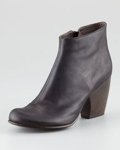 These are the best boots ever, I wear them almost every day. They're on sale now. You should buy them!!! Size up a 1/2 size, though! You're welcome.  Vernon Leather Bootie by Coclico at Neiman Marcus.