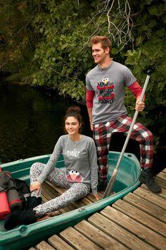 #pijama gris #elmo #sesameStreet para chico y chica.  #gisela #giselaintimates