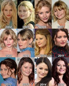 Emilie she has change so much but she is still so pretty in every single one