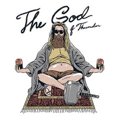 """""""Thor Lebowski"""" by Vincent Trinidad The God of Thunder in the style of The Dude, inspired by Avengers: Endgame Marvel Girls, Marvel Art, Marvel Dc Comics, Marvel Avengers, Avengers Memes, Marvel Memes, Day Of The Shirt, Thors Hammer, Marvel Funny"""
