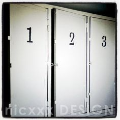 vintage lockers - customized@LA MAISON-THE HOUSE / A-the blue room