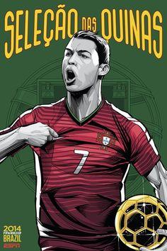 Portugal poster copa do mundo 2014