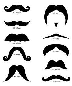 Template for moustaches...@Jayme Fair Romero hall...CHECK! Printed these for our photobooth