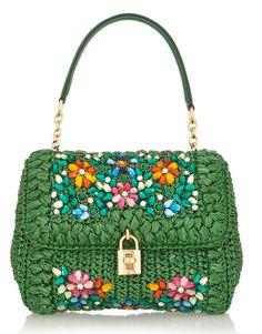 Embroidery shoulder bag & Dolce & Gabbana