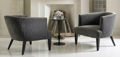 These chairs by Precedent Furniture look so inviting!