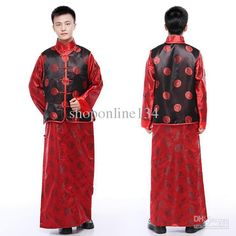 Hanfu for Man Tang Costume Chinese Costume Traditional Chinese Ethnic Clothing Men Wedding Suits Tang Suit Kung Fu Jacket, $68.93 | DHgate.com