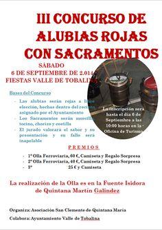 6/9 III Concurso de Alubias rojas con sacramentos. Quintana Martin Galindez 10:00h Fuente la Isidora