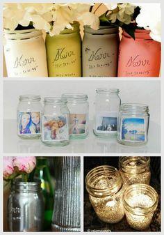 New Nostalgia – 24 Best DIY Mason Jar Vases, Votives & Photo Holders