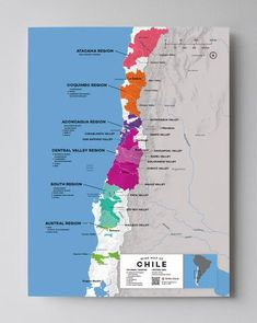 Chile Wine Regions - Corking Around Wein Poster, Chilean Wine, Wine Folly, Barolo Wine, Pinot Noir Wine, Wine Logo, Kroos, Wine Case, Expensive Wine