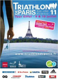 Affiche Triathlon de Paris 2011 Iron Man Triathlon, Event Flyers, Tour Eiffel, Gq, Tours, Travel, Blog, Sports, Event Posters