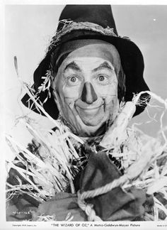 Ray Bolger as the Scarecrow in The Wizard of Oz.