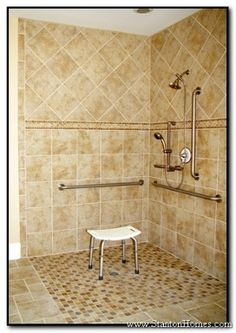 Accessible Bathrooms – Raleigh NC Accessible Homes – Universal Design Home Build… - Modern Ada Bathroom, Handicap Bathroom, Bathroom Ideas, Master Bathrooms, Bathroom Remodeling, Amazing Bathrooms, Bathroom Inspiration, Remodeling Ideas, Shower Remodel