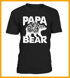 Mens Papa Bear Shirt with Dad Inspired Grizzly Silhouette Limited Edition - Yoga shirts (*Partner-Link)