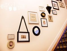 Stair wall decor; I need something like this on my stairs