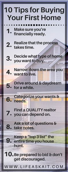 Buying a home for the first time? Take a look at these 10 detailed tips to help ease the stress & confusion that you'll face along the way! You will be so happy you read this... home buying, first home, buying your first house, buying a house checklist, your first home, dos and donts buying house
