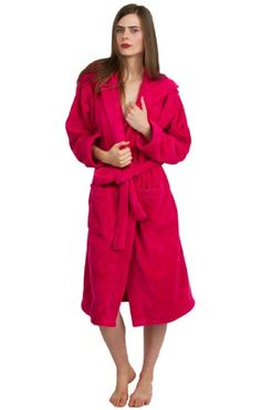 2f5e897b3 TowelSelections Plush Hooded Bathrobe - Luxury Spa Robe for Women and Men,  Super Soft and