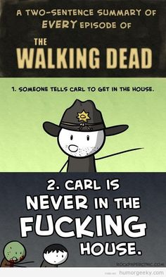DAMN IT CARL!!!!! GET YOU SHIT TOGETHER!!!! JUST STAY IN THE STUPID HOUSE!!!'
