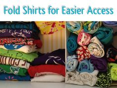 How to store shirts so you can see them and get to them