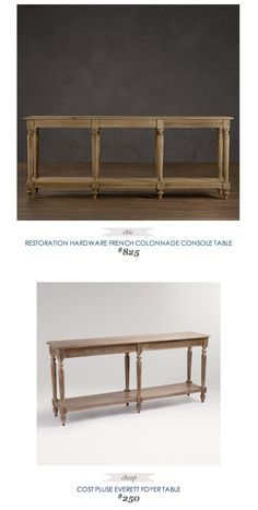 1000 images about restoration potterybarn on pinterest restoration hardware pottery barn and - Restoration hardware entry table ...
